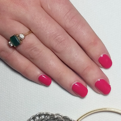 dark-pink-gel-manicure-glasgow-city-centre