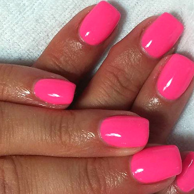 neon-pink-gel-polish-gelish-glasgow
