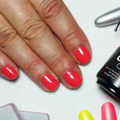orange-coral-gel-manicure-glasgow-city-centre
