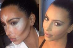 This is Kim Kardashian using contouring