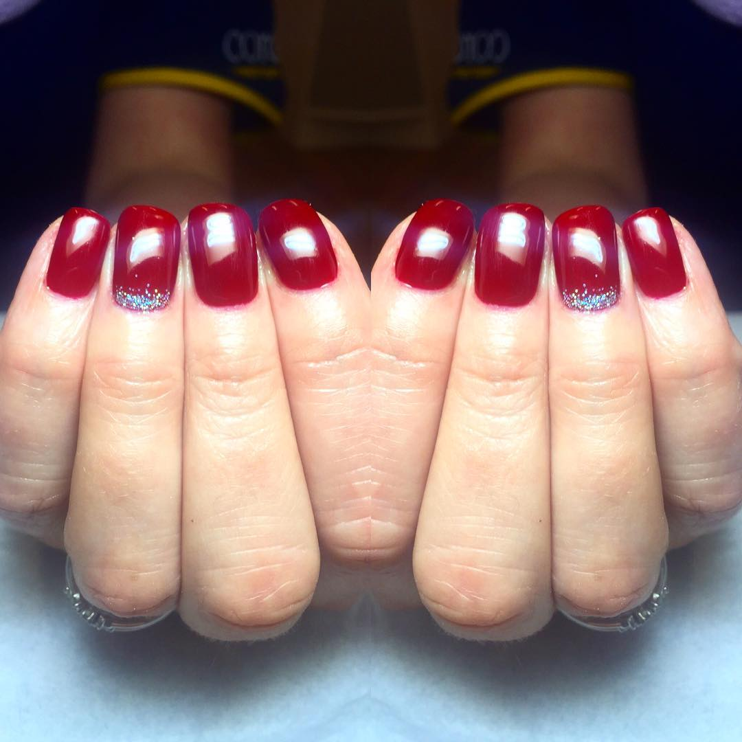 Red Shellac nails glasgow