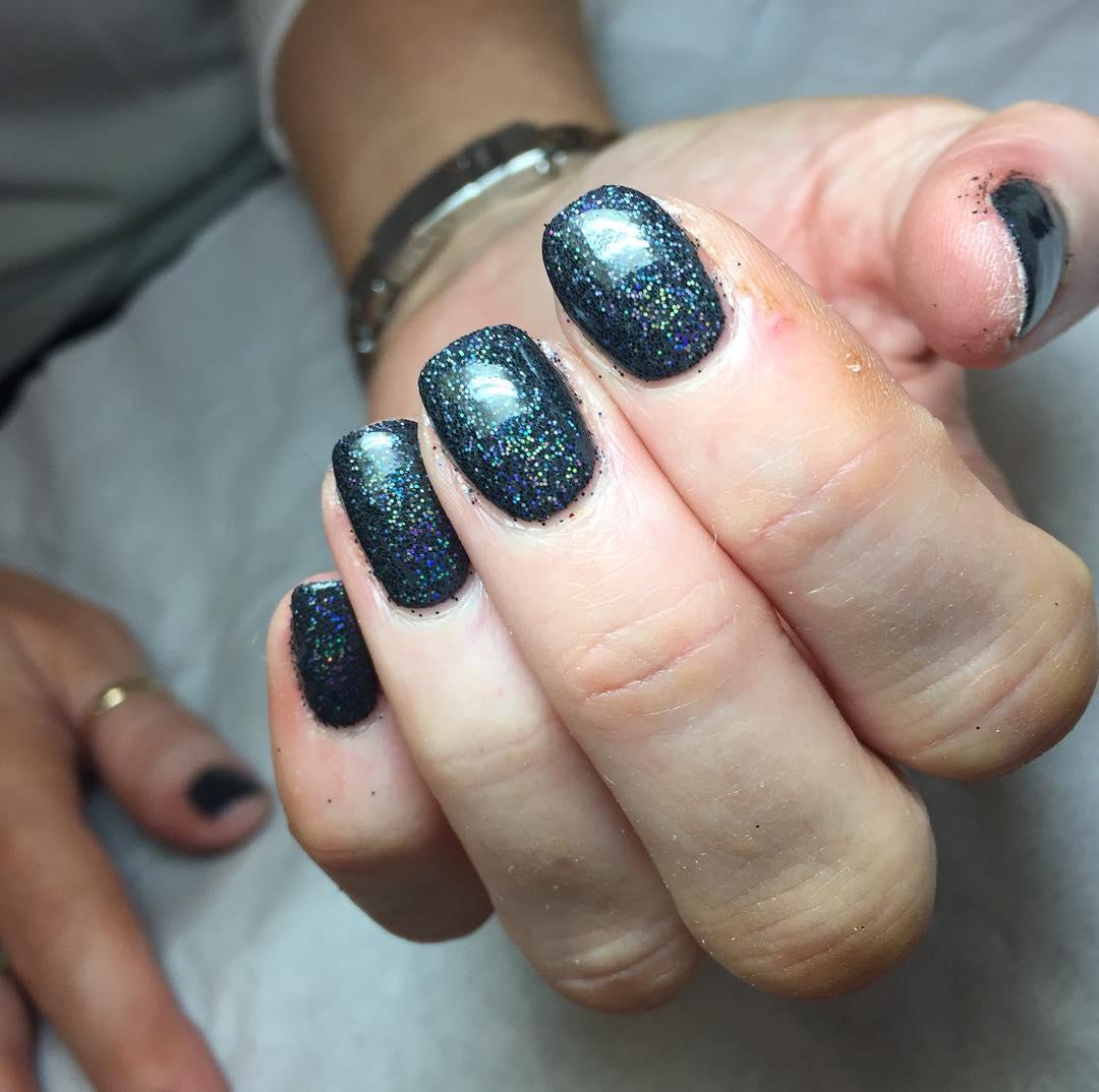 black gel nails glasgow
