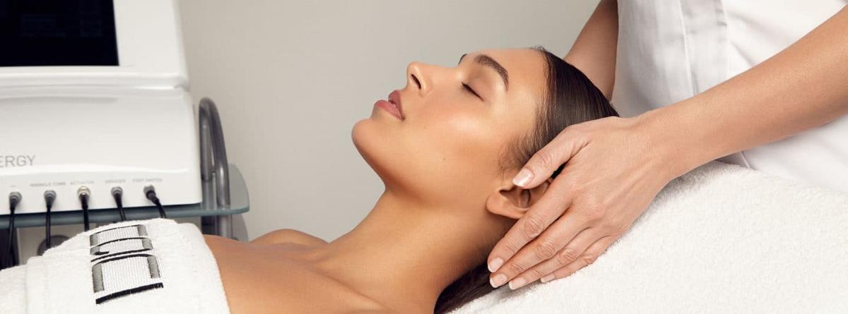 woman receiving anti-ageing caci facial treatment
